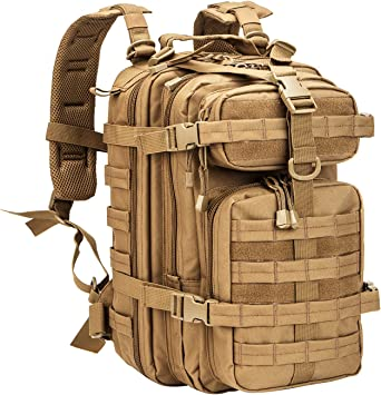 Amazon.com: WolfWarriorX Small 30L Tactical Backpack Military Assault Pack Rucksack Molle Bag (Coyote): Clothing, Shoes & Jewelry
