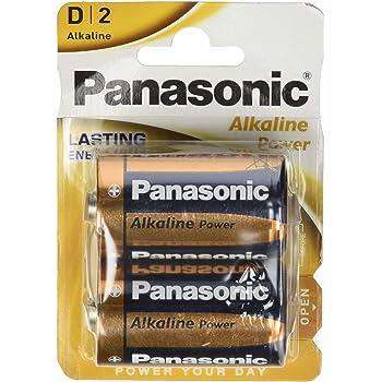 Panasonic POWER LR20 D - Pack de 2 pilas alcalinas: Amazon.es ...