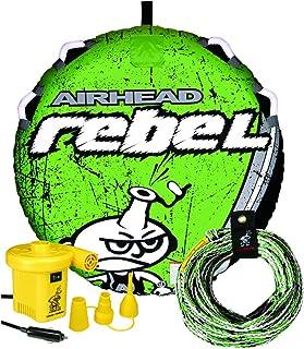 (أخضر/أسود/أبيض) - مجموعة أنابيب إير هيد ريبيل المتينة 140 سم 1 شخص أحمر قابلة للسحب مع حبل ومضخة 12 فولت