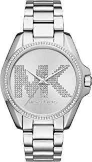 Michael Kors Women's Bradshaw Analog-Quartz Watch with Stainless-Steel Strap, Silver, 10 (Model: MK6554)