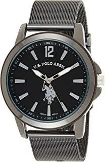 U.S. Polo Assn. Casual Watch Analog Display Analog Quartz For Men Usc80384, Black Band