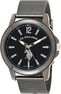 U.S. Polo Assn. Casual Watch Analog Display Analog Quartz For Men Usc80384, Black Band