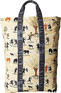 Vivienne Westwood - Africa Painted Fold-Over Sack