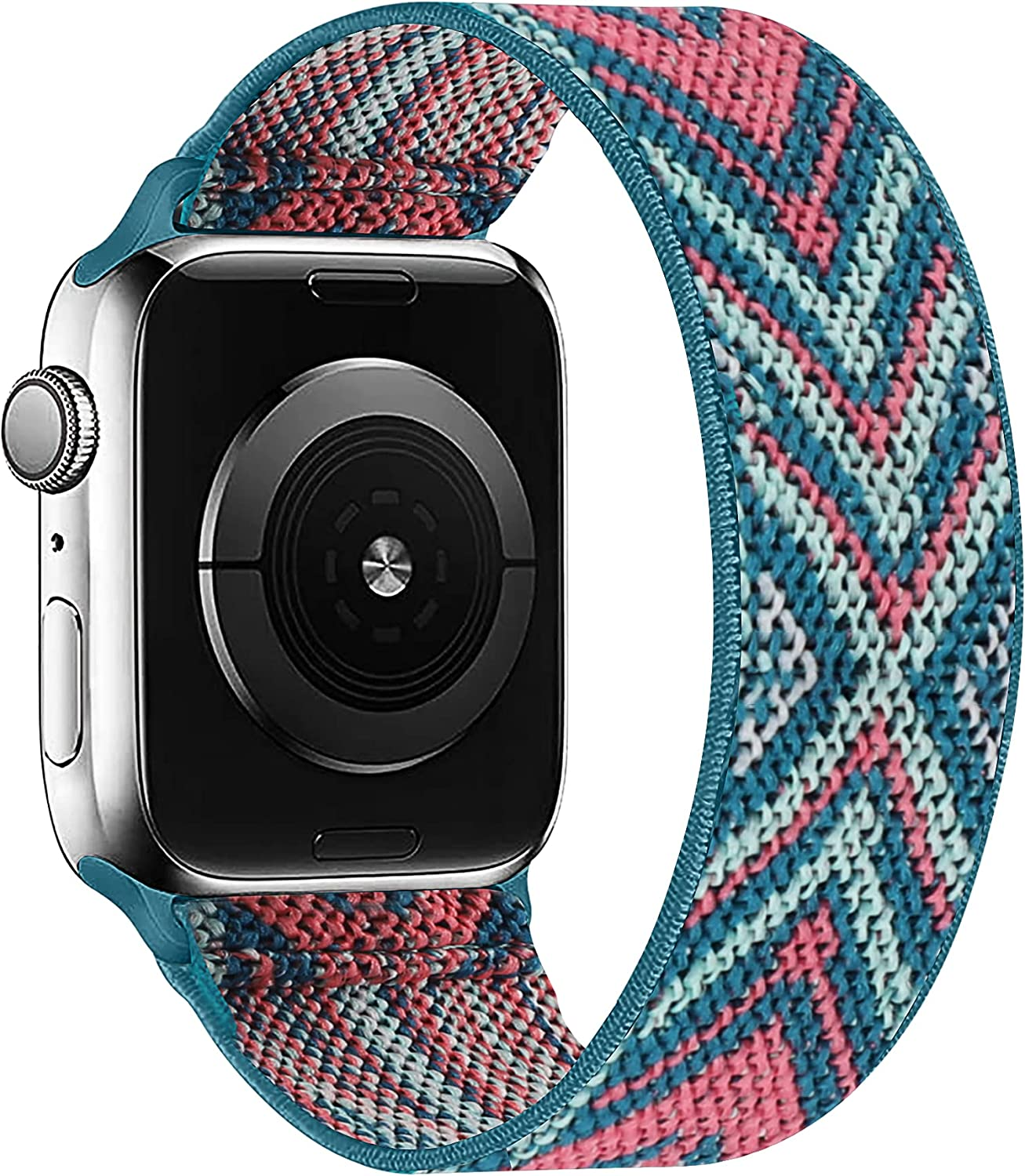 OHCBOOGIE Elastic Nylon Solo Loop Strap Compatible with Apple Watch Bands 38mm 40mm,Stretchy Braided with No Clasps/Buckles Sport Women Men Replacement Wristband for iWatch Series 6/SE/5/4/3/2/1