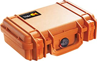 PELI Protector 1170 Schutzkoffer für Sicheren Transport von Kameraausrüstung, IP67 Wasserdicht, 3L Volumen, Hergestellt in den USA, Mit Schaumstoffeinlage (Anpassbar), Orange
