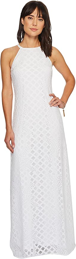 Resort White Pineapple Geo Lace