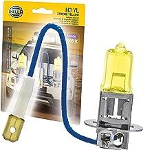 HELLA H3 Yellow-55W YL Xtreme Yellow Bulbs, 12V, 55W, 2 Pack