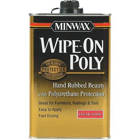 Minwax 40910000 Wipe-On Poly Finish Clear, pint, Satin