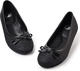 Sponsored Ad - FITORY Girls Dress Shoes, Glitter Mary Jane Ballet Flats Slip on with Bow for Toddler/Little Kid/Big Kid