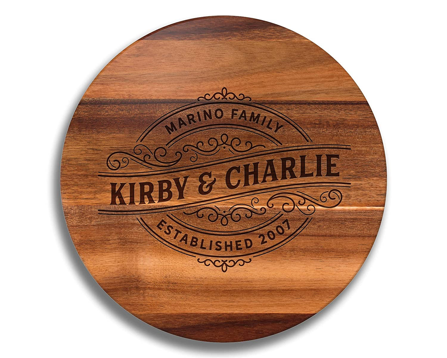 Personalized Wedding Over item handling ☆ Award-winning store Gift Lazy Perso Susan Wood Engraved