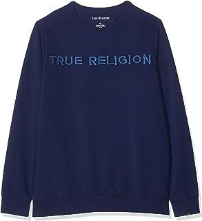 True Religion Men's Crew Sweat Tr Solid Navy Sweatshirt