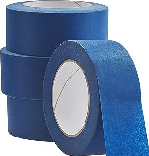 No-Residue 1-2インチ 60ヤード ブルー ペインターテープ 簡単に切れるプロ仕様の取り外し可能なマスキングテープ 自宅/オフィス/商用業者に最適 ワイドクレープペーパーロールでクリーンで液垂れしないペイント 2 inch 4 Pack
