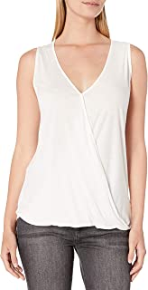 Paper + Tee Women's Sleeveless Drape-Neck Top