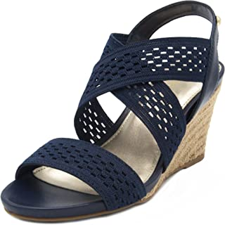 Womens Pickwick Open Toe Espadrille Stretch Wedge Sandals
