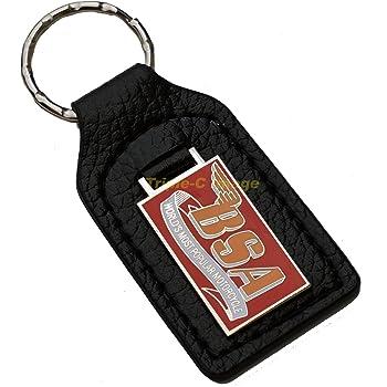 Morgan Leather and Enamel Key Ring Key Fob Triple-C FOB/_MORGAN