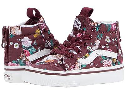 Vans Kids Sk8-Hi Zip (Infant/Toddler) ((Butterfly Floral) Port Royale/True White) Girls Shoes