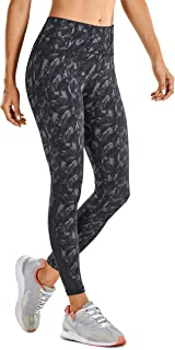 CRZ YOGA Naked Feeling High Waist 7/8 leggings Mesh Yoga Tight Workout Leggings with Zip Pocket-25 Inches