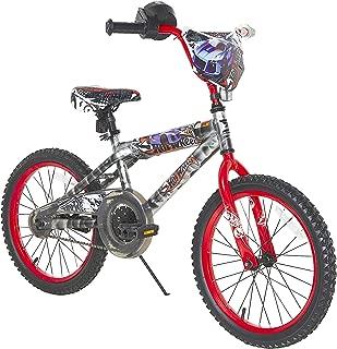 """Hot Wheels Boys Dynacraft Bike with Rev' Grip, Silver/Red, 18"""""""