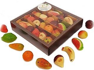 """Frutti di pasta di """"pasta reale"""" (martorana o marzapane siciliano) in splendida confezione regalo. PACK-RISPARMIO 3 pezzi!"""