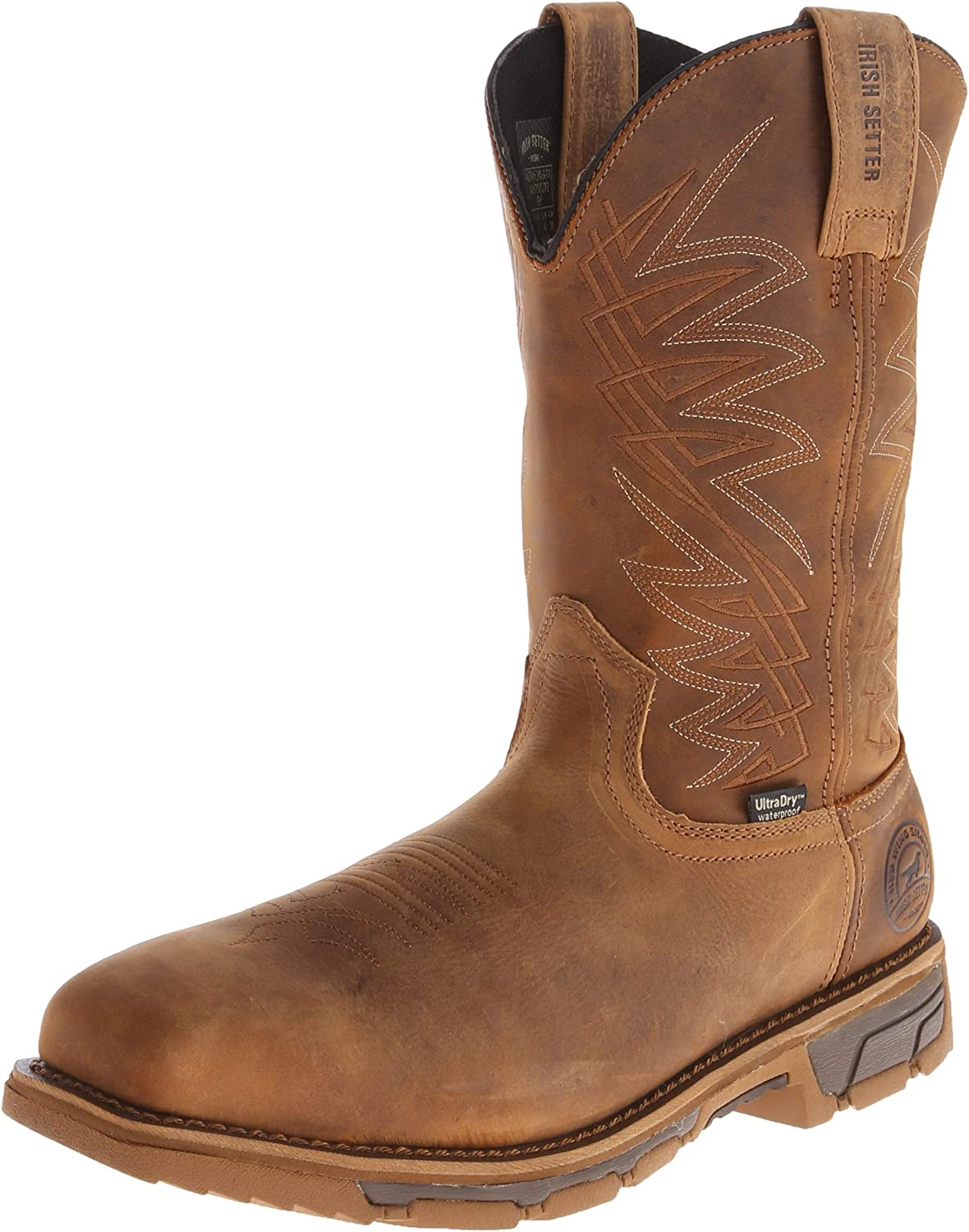 Irish Setter Work Men's 83912 Marshall 11  Pull-On Steel Toe Waterproof Work Boot