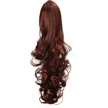 """OneDor 20"""" Curly Synthetic Clip In Claw Drawstring Ponytail Hair Extension Synthetic Hairpiece 190g with a jaw/claw clip (R130)"""