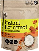 HighKey Snacks Keto Instant Maple Hot Cereal Breakfast - Gluten & Grain Free - Perfect Ketogenic Friendly Food - Low Carb, High Protein Products - Good for Desserts, Atkins and Diabetic Diets - 9oz