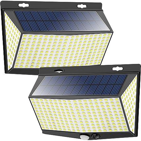 Solar Lights Outdoor 260 LED Wireless Double Motion Sensor Lights IP65 2PK Yard