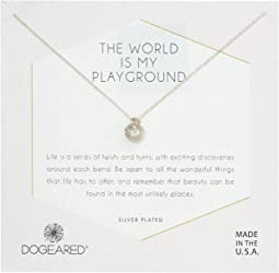 The World Is My Playground, Sphere with Crystals Necklace