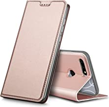Blu Vivo X Case,Tisuns PU Leather & TPU Case Card Slot Ultra Slim Flip Cover Case Protective Sleeves with Stand Holder for Blu Vivo X Rose Gold
