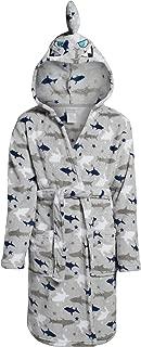 Boys Plush Fleece Belted Robe with Character Hood