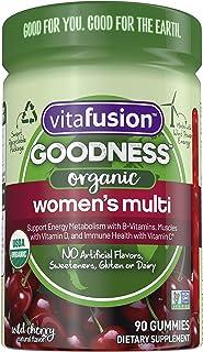 Vitafusion Goodness Organic Women's Gummy Multivitamin, 90 Count