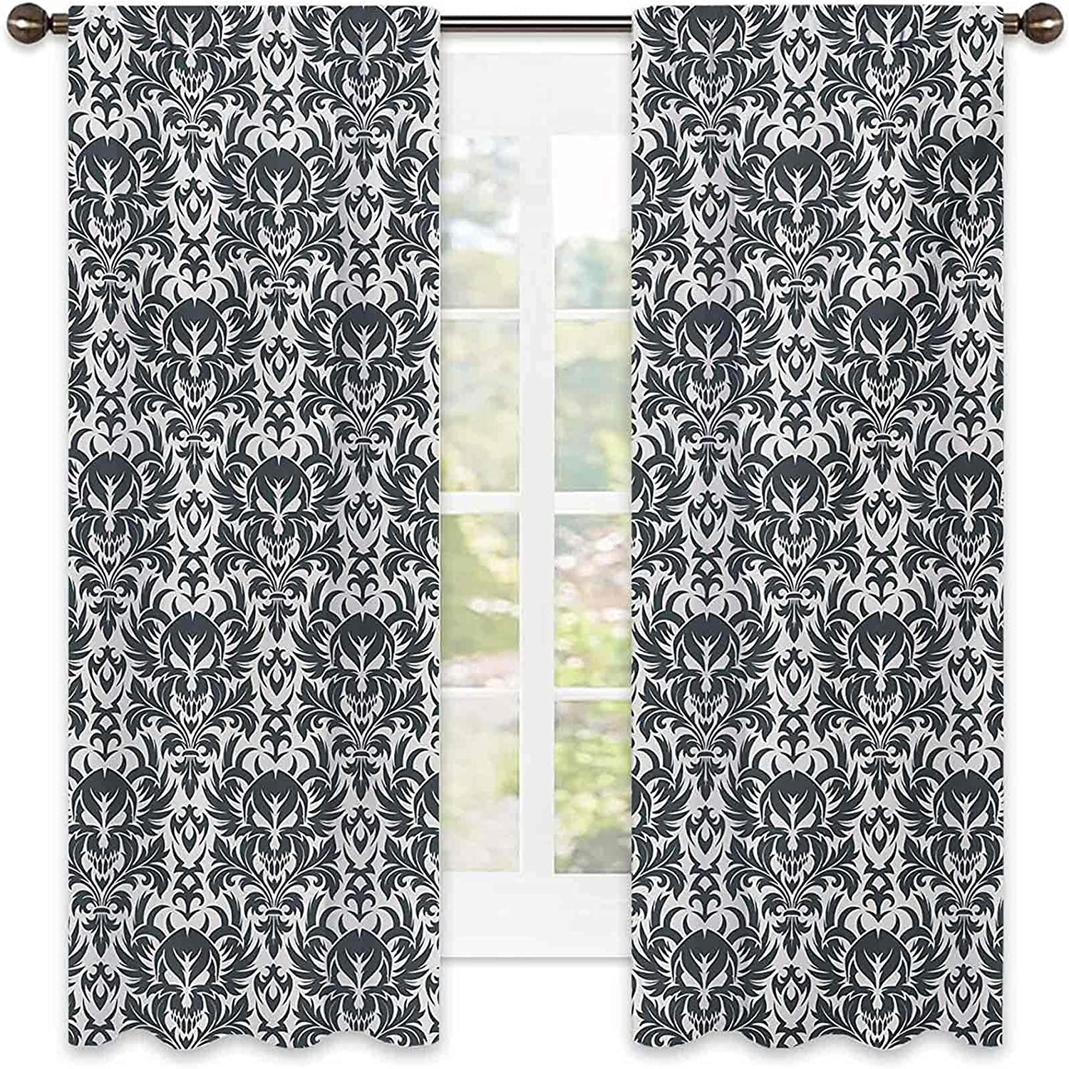 Gothic Shading Insulated Super popular specialty store Curtain Ornamental Damask Flo Ranking TOP17 Inspired