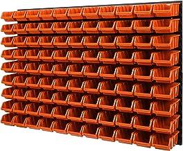 Wandplank stapelboxen - gatenwand 1152 x 780 mm - 99 stuks. Bokken opslagsysteem gereedschapswand Schuderek (oranje)