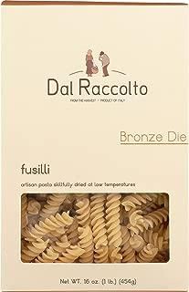 Dal Raccolto Bronze Die Cut Pasta, Fusilli, 1 Pound , (Pack of 12)