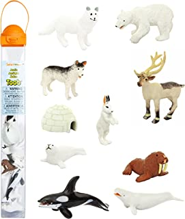 Safari Ltd Arctic TOOB with 10 Fun Figurines, Including A Harp Seal, Husky, Caribou, Arctic Rabbit, Killer Whale, Walrus, Arctic Fox, Beluga Whale, Igloo, and Polar Bear – for Ages 3 and Up