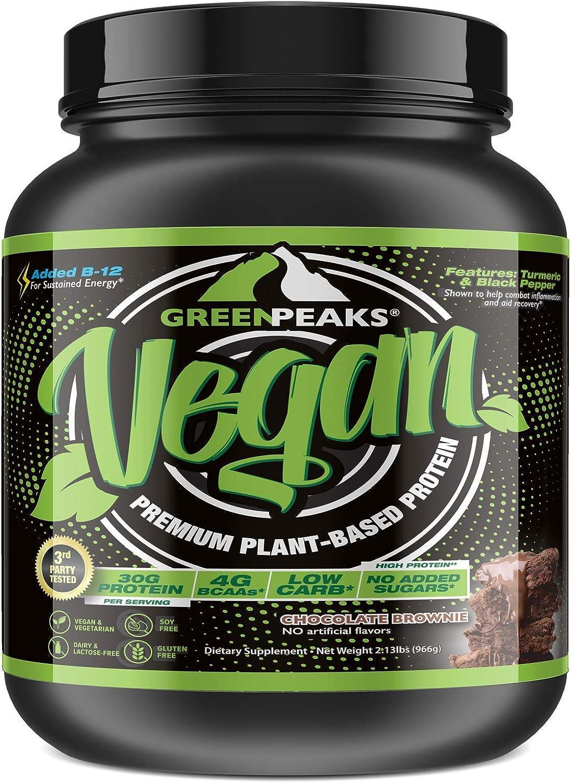 Green お気に入り Peaks Vegan Protein Powder Chocolate Flavor Servings 20 2 開店祝い