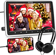 WONNIE 10.5'' Car DVD Player with Headrest Mount, HDMI Input, 1080P Video Support, Headphone, AV in / Out, USB /SD, Region...