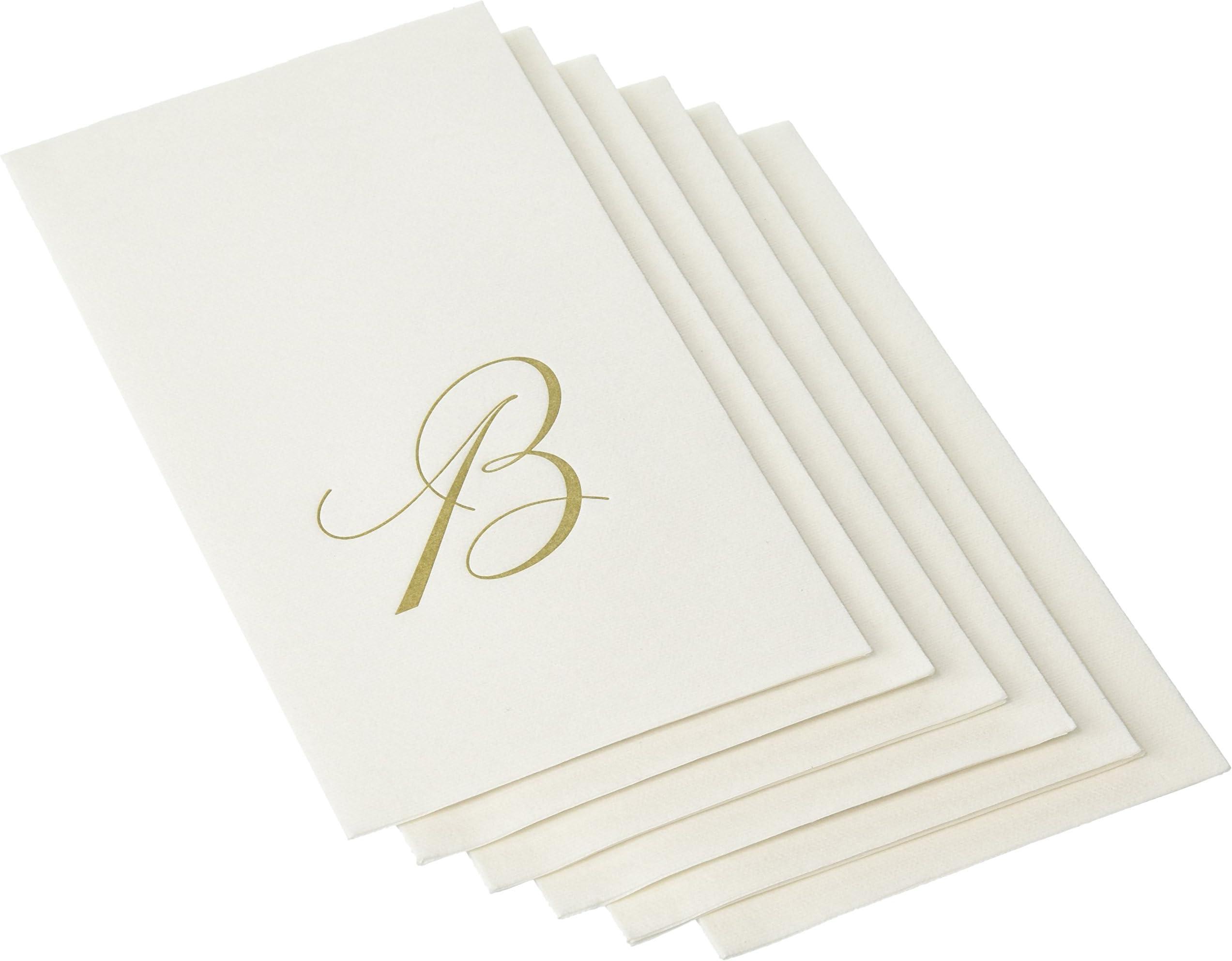Monogram Linen Bow Napkins