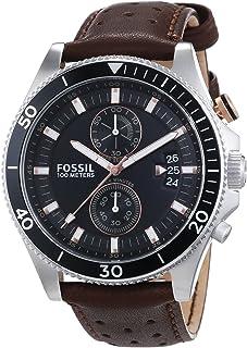 ساعة يد فوسيل ويكفيلد للرجال - نظام انالوج مع سوار من الجلد - CH2944