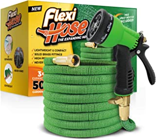 Flexi Hose Upgraded Expandable Garden Hose Extra Strength, 3/4