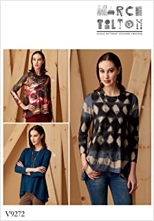 Vogue 图案 9272 Y,女式束腰外衣,尺码 Xsm-Med,薄荷色,15 x 0.5 x 22 cm