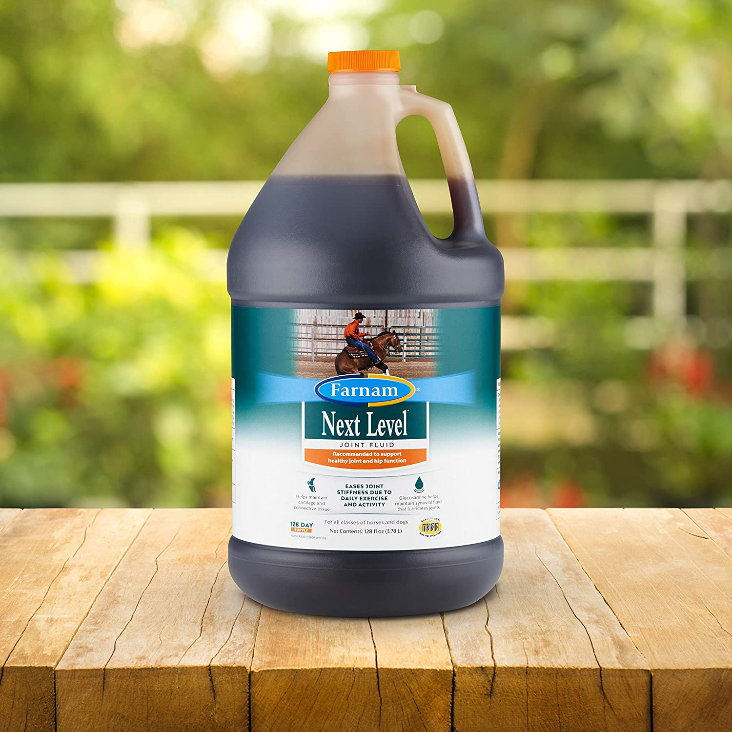 Farnam Next Level Joint Fluid Supplement, Supports Healthy Hip and Joint Function for Horses & Dogs, 128 Ounces : Pet Supplies
