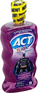Act Kids Batman Anticavity Fluoride Rinse 16.9 Ounces each, Pack of 3