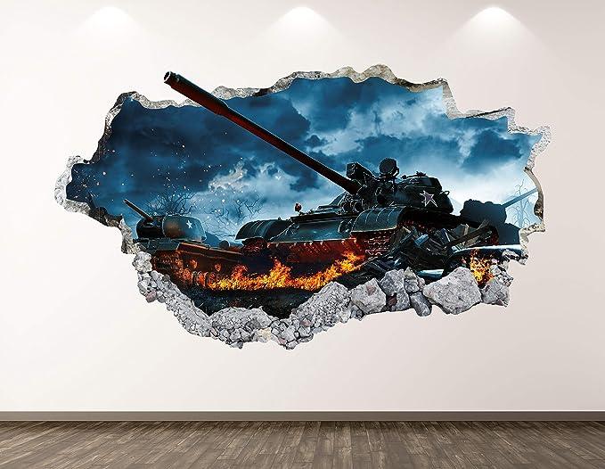 Tanks War Army Military 3D Wall Sticker Art Poster Decals Murals Room Z75