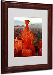 Trademark Fine Art Bryce Canyon Thor's Hammer by Pierre Leclerc キャンバスウォールアートワーク 木製フレーム 11 by 14-Inch PL0016-W1114MF