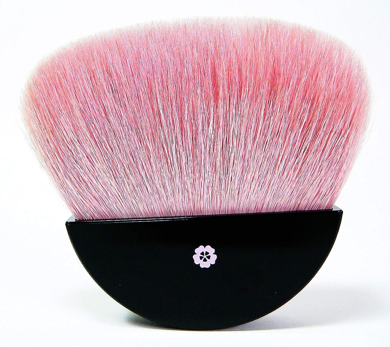 摂氏度良い項目熊野筆 メイクブラシ 化粧筆?白ヤギの毛をピンクに染め桜をイメージした商品です【日本製】