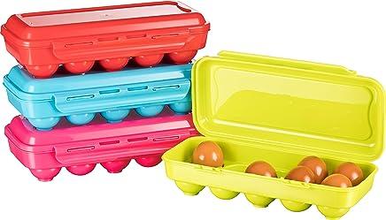 Kigima Eierbox für 10 Eier 4er Set bunt preisvergleich bei geschirr-verleih.eu