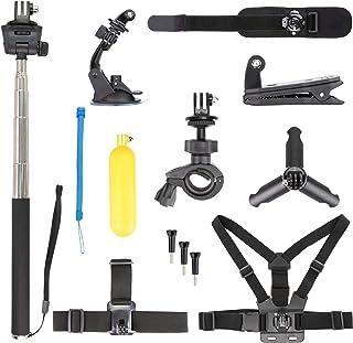 Honbobo Kit de Accesorios para dji Osmo Action Cabeza/Muñeca/Correa para el Pecho Bicicleta/Coche Clip Trípode Selfie Stick para Osmo Action
