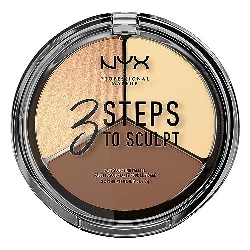 NYX PROFESSIONAL MAKEUP 3 Steps to Sculpt Face Sculpting Contour Palette - Light