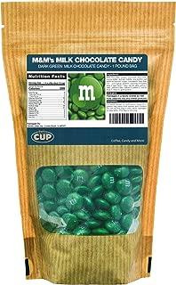 Dark Green Milk Chocolate M&M's Candy (1 Pound Bag)